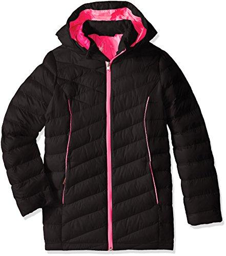 Spyder Girls Long Timeless Black Jacket Bubblegum Bryte Down Synthetic pFrpwq