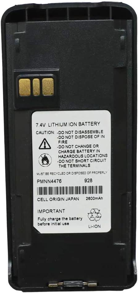 Teseko PMNN4476 Two-Way Radio Battery 7.4V 2600mAh Li-ion Replacement for Motorola PMNN4476A XIR C1200 C2660Talkabout Radios+Belt Clip