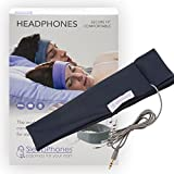 AcousticSheep SleepPhones Classic | Corded Headphones Designed for Sleep, Travel & More Flat Speakers in a Comfortable Headband | Galaxy Blue - Breeze Fabric (Size M)