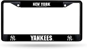 New York Yankees MLB Black (Metal) Chrome License Plate Frame