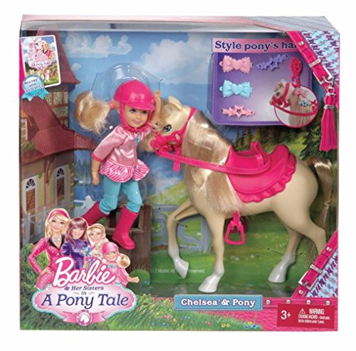 Barbie and Her Sisters in a Pony Tale Chelsea and Pony Doll Set by Barbie