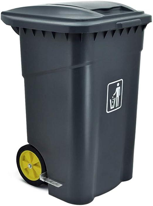 DEI QI Cubo de basura con tapa exterior Cubo doble de basura de diseño exterior Cubos