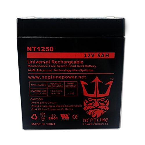 Replacement Battery for 12V 4AH 4.5AH 5AH SLA Sealed Lead Acid Security Alarm