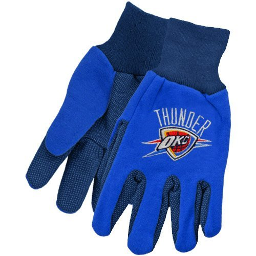 Oklahoma City Thunder Two Tone Gloves - - Malls Oklahoma City Outlet
