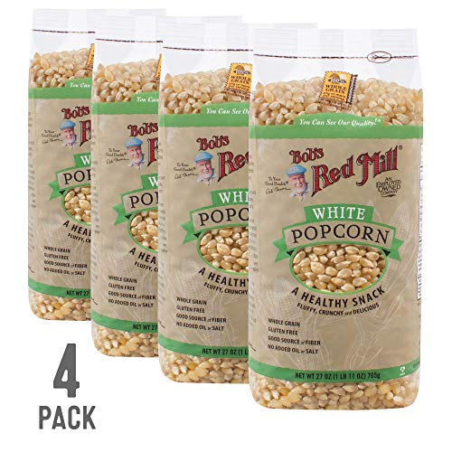 Bob's Red Mill Whole White Popcorn, 27 Oz (4 Pack)