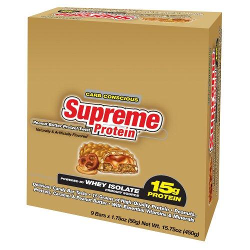 Supreme Protein, Peanut Butter Pretzel Twist, 9 - 1.75 oz Bars