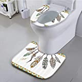 Auraisehome Universal Toilet seat Authentic of Indian Old Hippie Spiritual Mysticism Convenient Safety and Hygiene