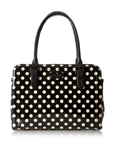 Kate Spade Miles Carlisle Street Black Polka Dots Tote Handbag 2028, Bags Central