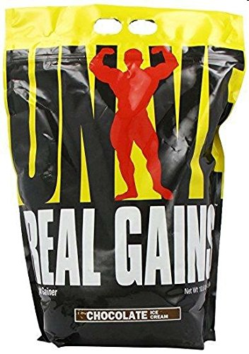 Real Gains Weight Gainer with Complex Carbs and Whey-Micellar Casein Protein Matrix Chocolate 10.6 # (Best Weight Gain Powder)