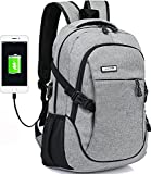Dream ya A-001 Business Water Resistant Polyester Laptop Backpack, Grey
