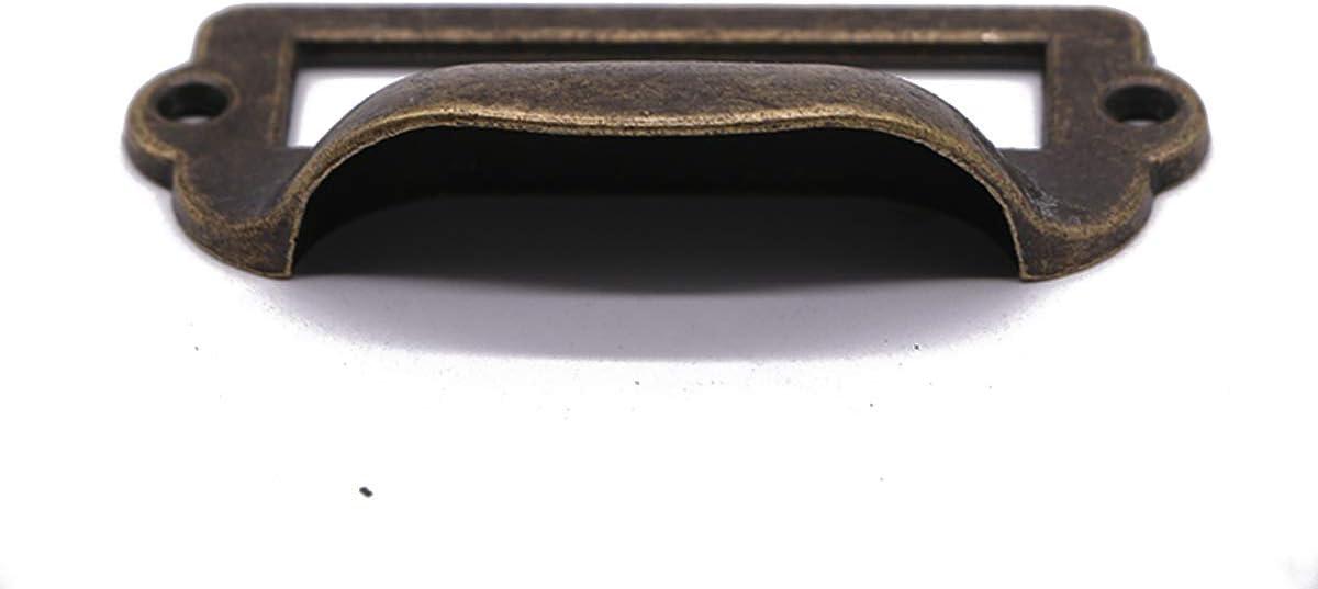 Titular de Etiqueta de Bronce Antiguo Moda Metal Titular de La Etiqueta para Armario Boticario Armario de Cajones Caj/ón Del Titular de La Tarjeta 30 Piezas Tiradores de Etiquetas Negro