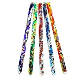 Set of 4 Toysmith Jumbo Spiral Glitter Wand (Assorted Colors) bundled by Maven Gifts