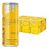 red bull can - Red Bull Yellow Edition, Tropical Energy Drink, 8.4 Fl Oz Cans (Total 24 Cans)