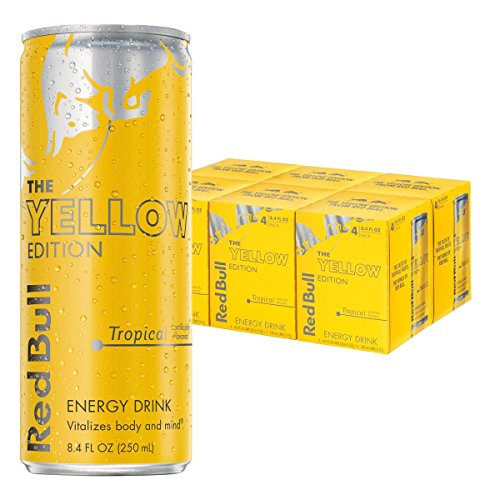 Red Bull Pack (Red Bull Yellow Edition, Tropical Energy Drink, 8.4 Fl Oz Cans (Total 24 Cans))