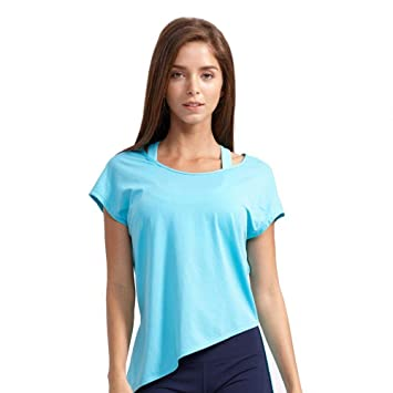 RunJuWuYe Camiseta Deportiva de Malla Mujer Camisetas de ...