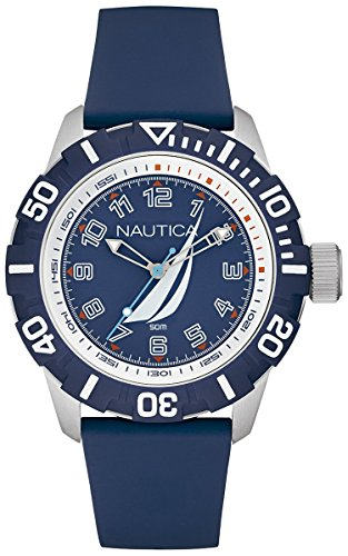 - Nautica nsr-100 j-Class Mens Analog Quartz Watch with Rubber Bracelet NAI08505G