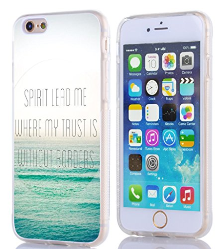 Iphone 6S Case Christian Quotes, Apple Iphone 6S Case Bible Verses Spirit Lead Me Where My Trust Is Without (Spirit Phone)
