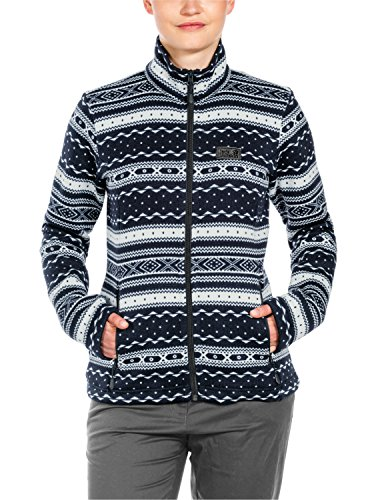 Da In Giacca Donna Night All Jack Wolfskin Blue Shackleton Over Pile 76qwxnOX4
