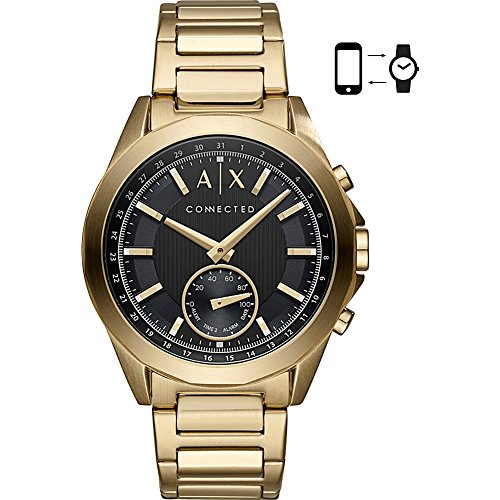 s Quartz Stainless Steel Smart Watch, Color:Gold-Toned (Model: AXT1008) ()