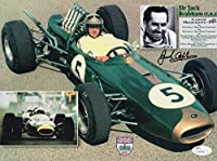 JACK BRABHAM HAND SIGNED 8x11 COLOR PHOTO LEGENDARY FORMULA 1 DRIVER - JSA Certified - Autographed Extreme Sports Photos from Sports Memorabilia