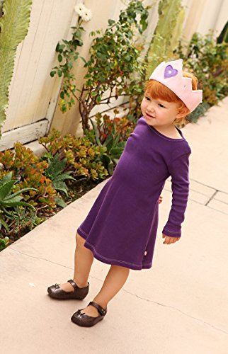 City Threads Big Girls' Cotton Long Sleeve Dress For School or Play For Sensitive Skin SPD Sensory Friendly, Forest Green, 8 by City Threads (Image #7)