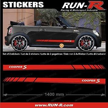 Adn Auto Adnauto 09800 2 Mini Coopers S 140 Cm Rouge White Letters