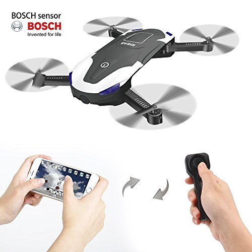 Le-idea IDEA8 Stylish Funny FPV RC Drone with 720P HD WI-FI Camera Live Video , Foldable Selfie Pocket Drone for Kid & Beginner , Two Cameras ,Two Alititude Holds ,Follow Me ,Gravity Sensor,2 Battery