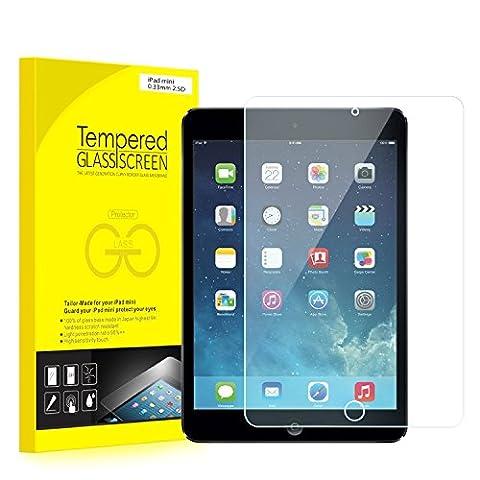 JETech iPad Mini Screen Protector Tempered Glass Film for Apple iPad Mini 1/2/3 (Not Mini 4) - 0336 (Screen Protector For Mini Ipad 1)