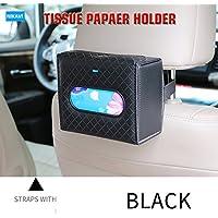 NIKAVI Car Sun Visor Tissue Case Napkin Holder Clip (Brown)