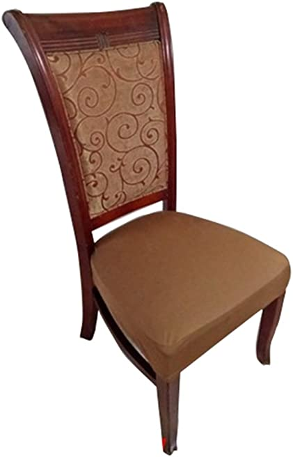 Deisy Dee Dining Chair Cover Protector Removable Washable for Hotel Dining Room Ceremony Chair Slipcovers C101 (Brown)