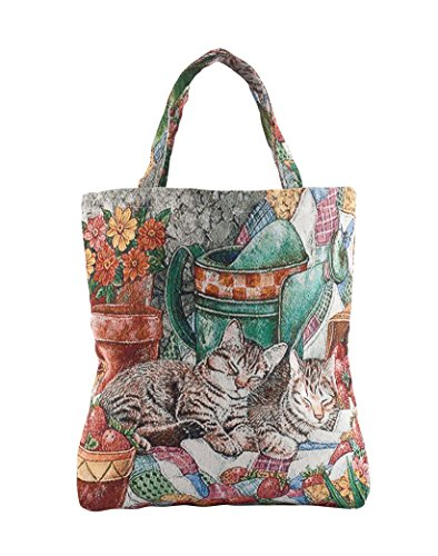 Fox Valley Traders Cat Tapestry Tote Bag