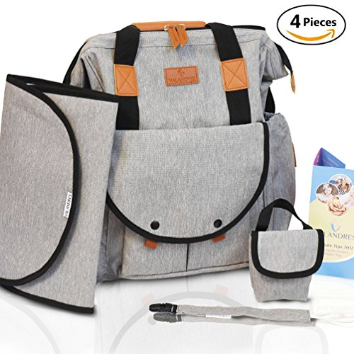 Diaper Bag Backpack for Girls & Boys   4 BONUSES - 14 Pockets   Large Opening Design Baby Diaper Bags Organizer Pouches for Mom & Dad, Perfect as Backpack Baby Bag – Best Baby Shower Gift (Backpack)