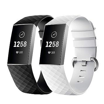 Fmway Correa Reloj Fitbit Charge 3, Repuesto de Correa Reloj de Silicona para Fitbit Charge