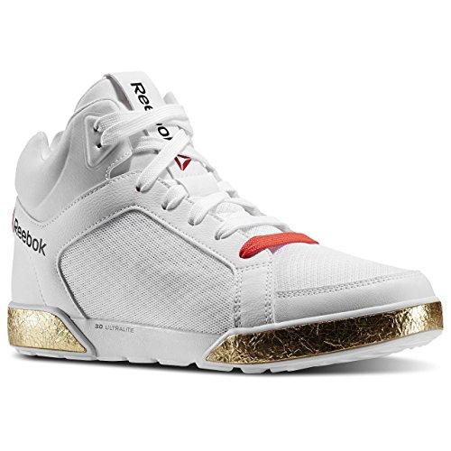 V66761 Reebok LM danza URTempo mediana 3.0 para hombre zapatillas blancas
