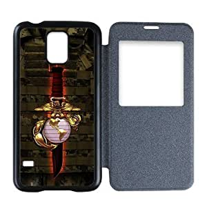 Generic Custom Extraordinary Best Design USMC(US Marine Corps) Symbol Series Plastic Back Flip Cover case for SamsungGalaxyS5