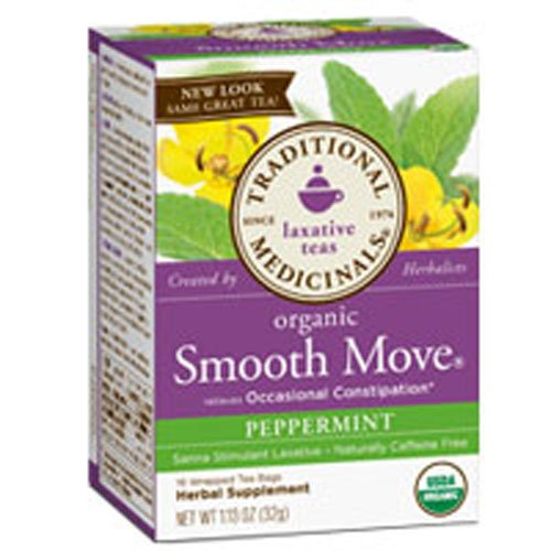 (Organic Smooth Move Tea Peppermint, Peppermint 16 bags (Pack of 2))