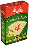 Melitta Super Premium Coffee Filters, Naturan Brown, No. 4, 100-Count Filters (Pack of 3)
