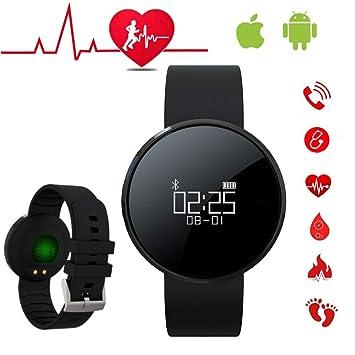 Reloj Inteligente Hombre Pulsera Inteligente Mujer Pulsera Actividad Inteligente Reloj Deportivo con Pulsometro Reloj Smartwatch Hombre para Teléfonos ...