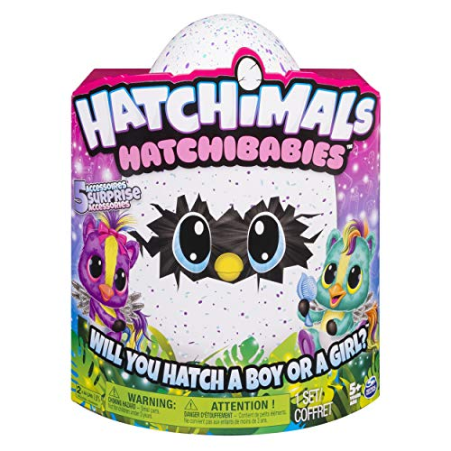 Hatchimals HatchiBabies Hatching Egg Interactive Pet Baby (Styles May Vary) Ages 5
