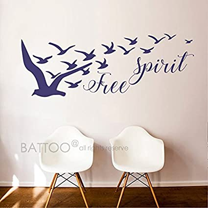 Amazon Com Yoyocoa Free Spirit Vinyl Wall Decal Birds Set Decal
