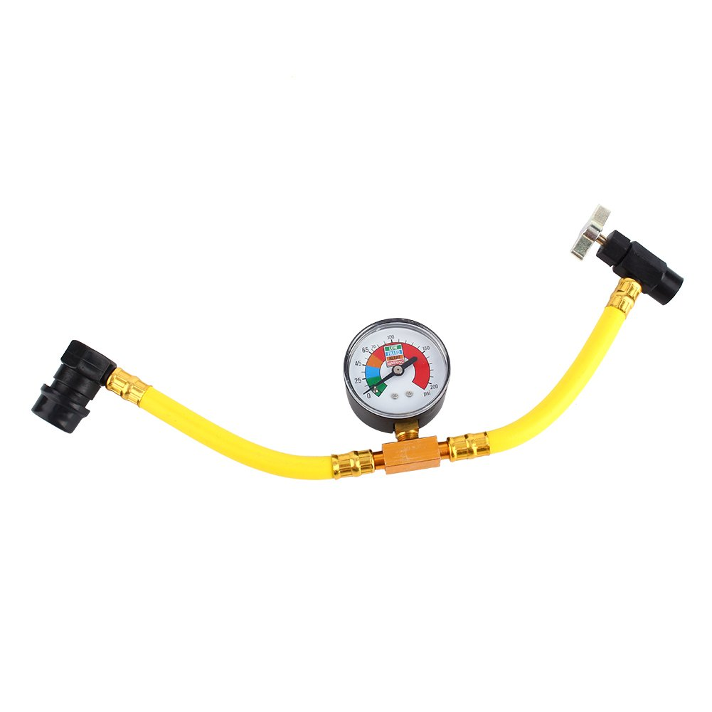 R134a Refrigerant Recharge Hose 1/2'' Can Tap Car Air Conditioning Pressure Gauge