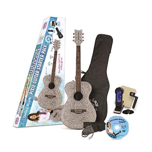 Sparkle Pixie Kit (Daisy Rock Pixie Acoustic Silver Sparkle Starter Guitar)