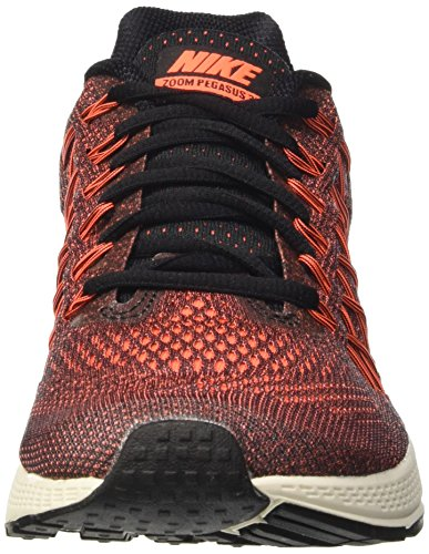 Nike Wmns Air Zoom Pegasus 32, Zapatillas de Running Para Mujer Black/Hyper Orange-Brght Crmsn