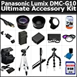 Ultimate Accessory Kit For The Panasonic Lumix DMC-G10 12.1 MP Includes 8GB High Speed SD Memory card + Extended Replacement DMW-BLB13 (1500 mAH) Battery + Ac/Dc Rapid Travel Charger + Deluxe Carrying Case + 50 Inch Pro Tripod + Monopod + Alot More
