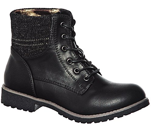 Boots up Lace Ankle Blackny New Hxg5tzcnH