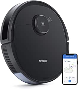 Ecovacs DEEBOT OZMO920 Robotic Vacuum Cleaner, 2-in-1 Vacuuming & Mopping with Smart Navi 3.0 Laser Technology, Custom Cleaning, Multi-Floor Mapping, Virtual Wall, Works on Carpets & Hard Floors