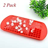 Silicone Mini Ice Cube Trays 160 Ice Cubes Ice Mold Tray 3/8'' Small Square ...