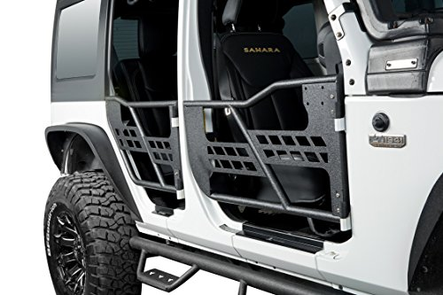 opar 2007-2018 Jeep JKU Rock Crawler Off Road Front & Rear Tubular Doors for Wrangler JK Unlimited (Front Rock Crawler)