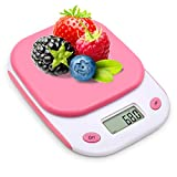 Bodyguard Digital Kitchen Scale,High-precision Multifunctional Pocket Food Scale ,11lb/5kg ,with Large HD back-light LCD Display (Batteries Included)-Pink