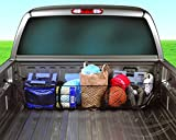 running board clips - Zento Deals Black Mesh Three Pocket Trunk Cargo Organizer Storage Net
